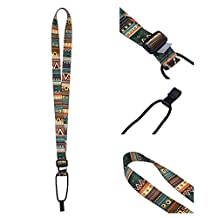 Melody Retro Ethnic Adjustable Soft Ukulele Strap Ukulele Neck Strap