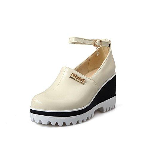 AN Womens Non-Marking Waterproof Mini-Size Urethane Platforms Sandals DIU00859 White 6Y6ysH3