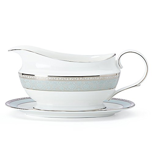 China Gravy Sauce Boat (Lenox 858272 Westmore Sauce Boat and Stand, White)