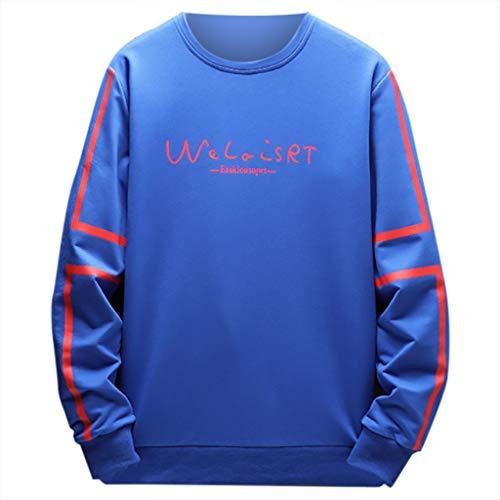 - Transser Men's Fashion Long Sleeve Sweatshirt Tops Letter Printing Casual Jacket Coat Sport Outwear