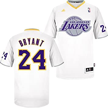 Los Angeles Lakers Kobe Bryant Short Sleeve Christmas Day Adidas Swingman  Revolution 30 Jersey (M 003046ddd