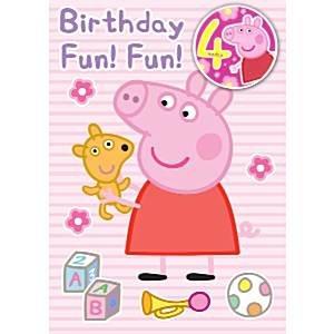 Tarjeta de cumpleaños Peppa Pig - 4 tarjeta de cumpleaños ...