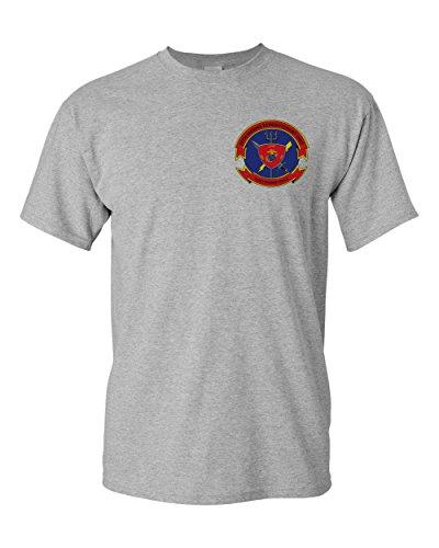 Print Bar AZ USMC 26th Marine Expeditionary Unit 26 MEU Insignia Shirt (Sport Grey, 3XL)