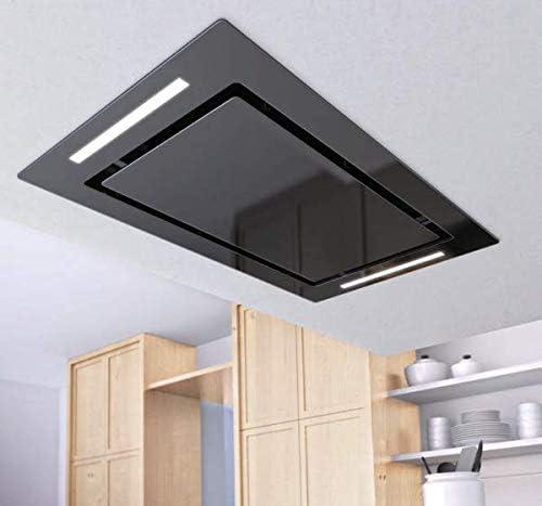 Airforce F171 - Campana de cocina de techo con mando a distancia, 100 cm, cristal negro: Amazon.es: Grandes electrodomésticos