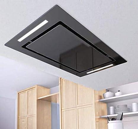 Airforce F171 - Campana de cocina de techo con mando a distancia, 100 cm, cristal negro