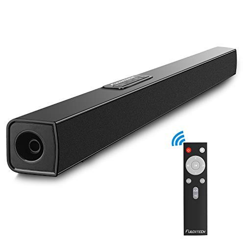 FULOXTECH TV Sound Bar, Upgraded Soundbar for TV 36.5-Inch 40W 2.0 Channel Wireless & Wired Bluetooth Sound Bars Home Theater Surround Speakers Incl Optical Cable,Remote, Black (Upgraded Version) (Best Sound Quality Soundbar)