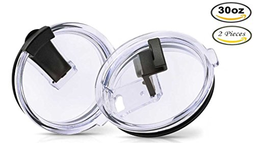 ecoChef 30 oz Spill Proof Tumbler Lids, New Splash Resistant Leak Proof Lids ensure NO LEAKS. Fits Yeti, RTIC, Ozark Trail, SIC & Other 30 oz Tumbler Cups – Vacuum Replacement, Straw Friendly (2 Pack)