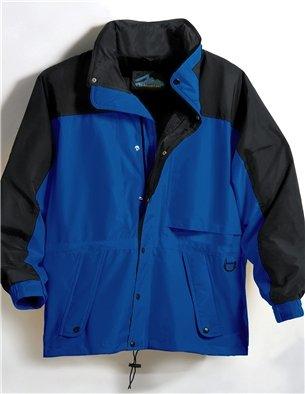 (Premium Quality Men's 100% Toughlan Nylon Parka Climax Jacket - Imperial Blue/Black, 3XL)