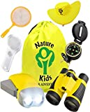 Adventure Kids - Outdoor Explorer Kit- Binoculars-Flashlight-Compass-Magnifying Glass-Backpack & More. Educational-Set for 3-4-5-6+ Year Old Boys & Girls   STEM-Toys-Gifts for Children Ages 3yr - 7yr