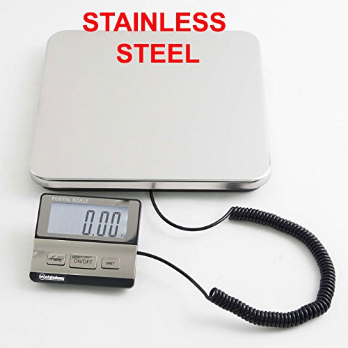 Weighology Heavy Duty Digital Postal Parcel Scale UPS USPS Post Office Scale (440 Lb Stainless Steel Platform)