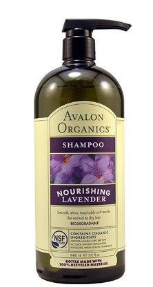 Avalon Organics - Shampoo Nourishing Lavender - 32 oz.(Pack of 2)