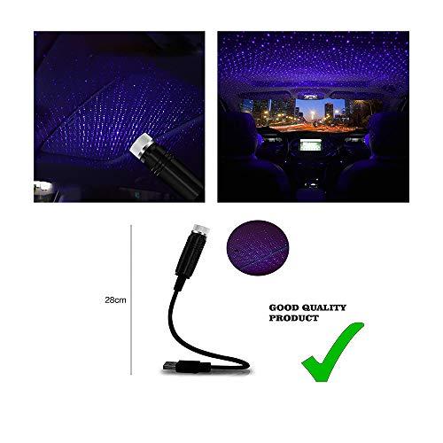 OnWheel FurnishMyAuto Car Interior Atmosphere Ambient USB Star Auto Roof Projector Light (Blue)