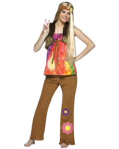Teen Hippie Gal Costumes (Hippie Gal Teen Halloween Costume Size 13-16)
