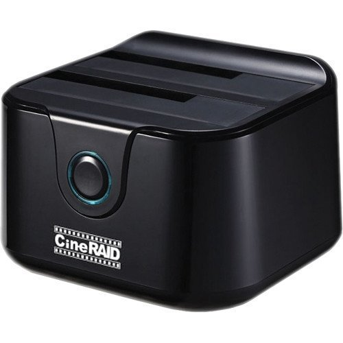 CineRAID CR-H236 (USB 3.0 UASP Dual Hard Drive Enclosure/Duplicator Dock/Software RAID Compatible) by CineRAID