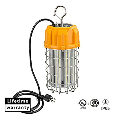 LED Work Lights Temporary Construction high Bay Light Fixture, 8400Lm, 5000K Daylight, 60W (550W Equiv.), IP65 Dust & Waterproof, Stainless Steel, DLC & UL-Listed
