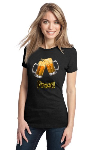 PROST! GERMAN BEER Ladies' T-shirt / Deutsches Bier Lover Drinking Tee