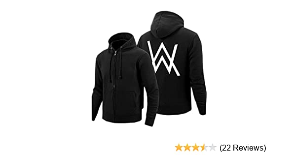 Amazon.com: Kigcos Alan Walker Logo Unisex Zip Hoodies Cosplay Costome (Small, Black): Clothing