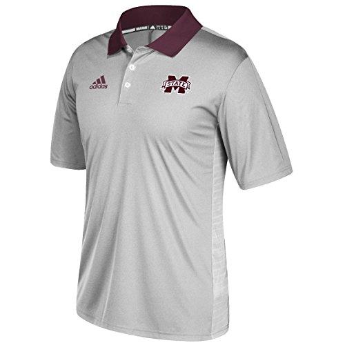 Mississippi State Bulldogs Adidas NCAA 2017 Sideline Coaches Polo Shirt - Gray (Shirt Polo Adidas Sideline)