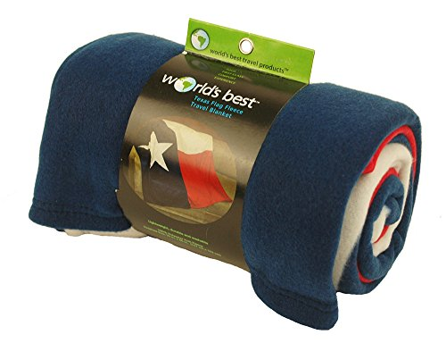 ft Microfleece Travel Blanket, Texas Flag ()