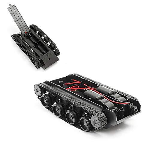 Rigel7 Tank Toys Chassis, Smart Robot Tank Car Chassis Kit Rubber Track Crawler for Arduino 130 Motor DIY Kit STEM Education (9.7cm18.5cm5cm)