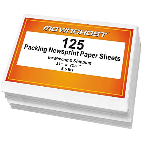 Newsprint Packing Paper Sheets for Moving - Recycable Acid Supplies Material - Smelless Smooth Wrapping Packaging Paper