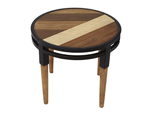 CDI FURNITURE MD1200M The The Medley Collection Modern Rustic Acacia Wood Round Side Table,