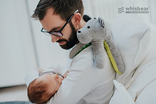 Whisbear Baby Sound Machine - The Best Sleep Soother on the Market - No More Sleepless Nights and Sleep Deprivation with this Award Winning White Noise Teddybear (Citron) by Whisbear (Image #1)