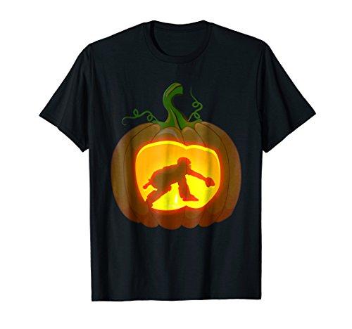 catcher baseball shirt Pumpkin Halloween -
