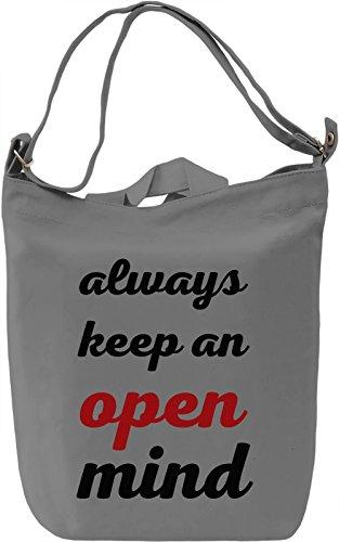 Open Mind Borsa Giornaliera Canvas Canvas Day Bag| 100% Premium Cotton Canvas| DTG Printing|