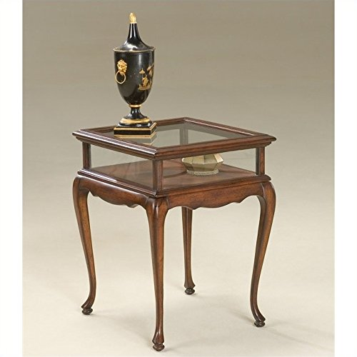(BUTLER 1484024 BURTON PLANTATION CHERRY CURIO TABLE)