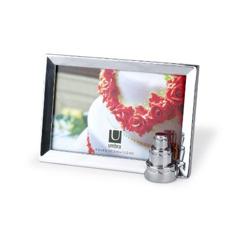 (Umbra Memoire 4-Inch by 6-Inch Aluminum Desktop Frame,)