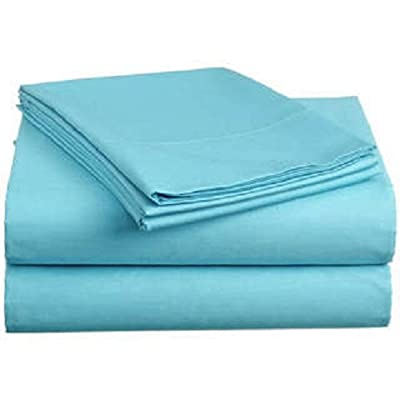 Both Pattern Solid/Stripe 1-Piece- Fitted- Sheet with 20-25 inches Extra Fit Deep Pocket Hotel Finish Adjustable Room 400 Thread Count 100% Pima Cotton Available in 3 Sizes & 31 Colors.
