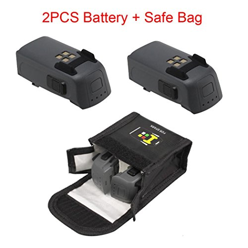Leewa@ 2PCS 1480mAh Intelligent Flight Battery+Battery Safe Bag For DJI Spark Drone by Leewa