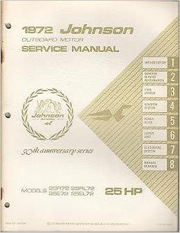 1972 JOHNSON OUTBOARD MOTOR 25 HP SERVICE MANUAL JM-7206