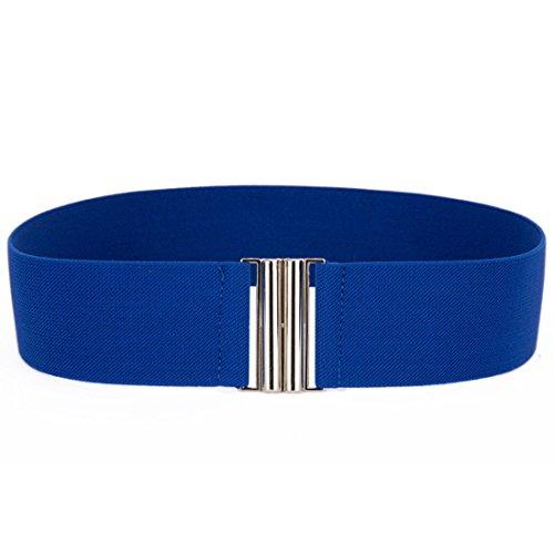 Buckle Wide Corset (Wide Buckle Stretch Elastic Corset Waist Belts Waistband Dress Belt Royal)
