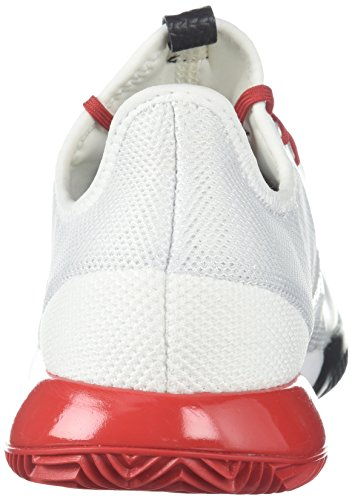Scarpa Da Tennis Adidas Adizero Ribelle Adidas W Scarpe Da Tennis, Mistero Rubino / Bianco / Rosso Notte, 6,5 M Us Bianco / Scarlatto / Anima Nera