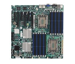 Supermicro A+ H8DG6 AMD Motherboard Dual Opteron 6000 series 1944-pin Socket G34 up to 512GB DDR3 RAMS Dual-port GbE controller 6 SATA2 ports via SP5100 RAID 0,1,10 LSI 2008 8 ports SAS controller RAID 0,1,10 RAID 5 optional Full Warranty ()