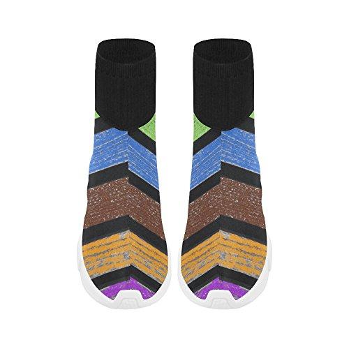Leinterest Rainbow Unicorn Stretch Socka Skor För Kvinnor