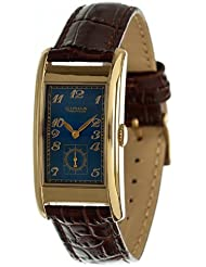 Circa Mens Rectangular Watch Blue And Gold CT125T [Watch]
