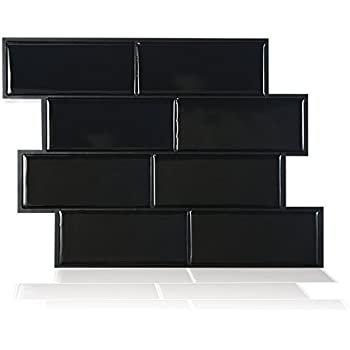 smart tiles peel and stick backsplash and wall tile metro nero. Black Bedroom Furniture Sets. Home Design Ideas