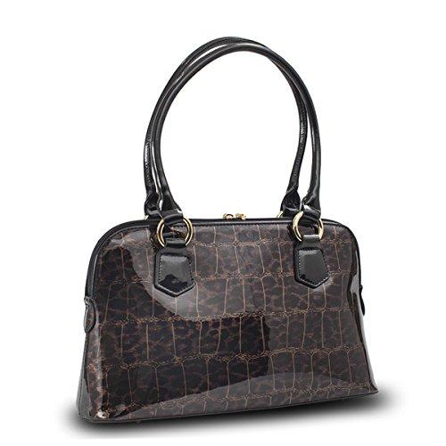 Bravo Dundee Print Hand Bag, Crocodile Leopard - Crocodil...