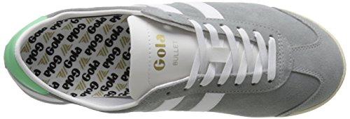 Gola Womens Bullet Pelle Scamosciata Fashion Sneaker Grigio / Camoscio Bianco