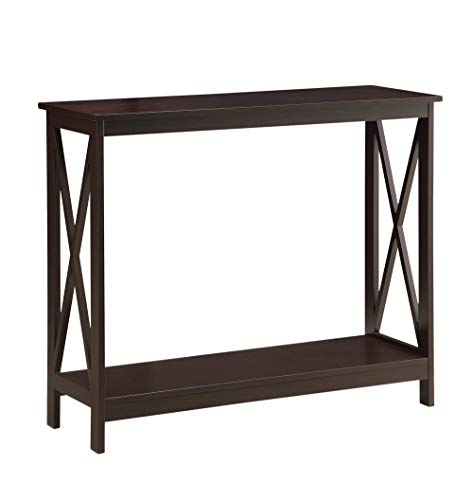 Espresso Collection Foyer Table - Convenience Concepts Oxford Console Table, Espresso