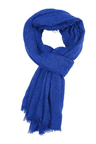 Abeelah Cotton Crinkle Hijab Scarf- Muslim, Indian, African Fashion Compatible (Royal Blue) by Abeelah (Image #5)