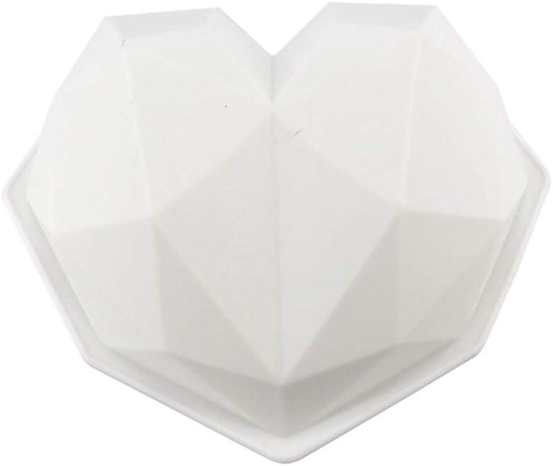 ZChun Moules De Silicone De Forme De Coeur damour De Diamant 3D Moules De Dessert De P/âtisserie De Mousse De Bakeware