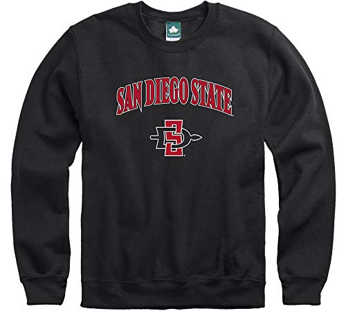 Ivysport San Diego State University Aztecs Crewneck Sweatshirt, Legacy, Black, Small Black Classic College Crew Fleece