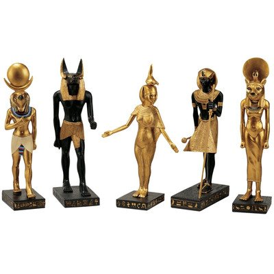 Egyptian God Statues (Design Toscano 5-Piece Gods of the Egyptian Realm Statue Set)