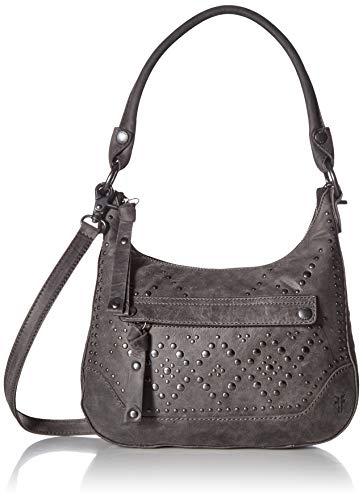 (FRYE Melissa Studded Zip Hobo Crossbody Handbag, Slate)