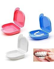 Braces Box, 3 stuks opberghoes voor deuken en mondbescherming met luchtgat, droog en ademend, koel voor tandprosthesis, veilig voor orthopedische apparaten, splints prostheses, bijtsplint of brace clip