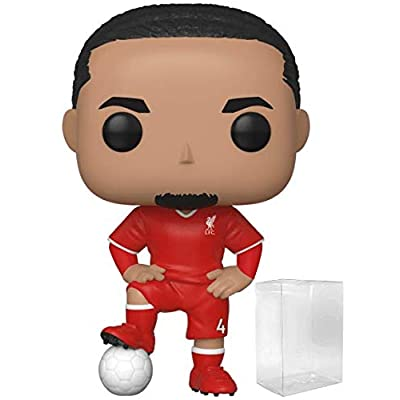 Funko Pop! Soccer: Liverpool F.C. - Virgil Van Dijk #16 Vinyl Figure (Includes Compatible Pop Box Protector Case): Toys & Games